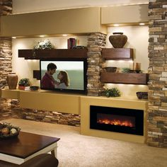 """""""Modern Flames Fantastic Flame 43"""" fireplace features revolutionary LED flame technology that provides realistic flame with minimum energy consumption. No…"""""""