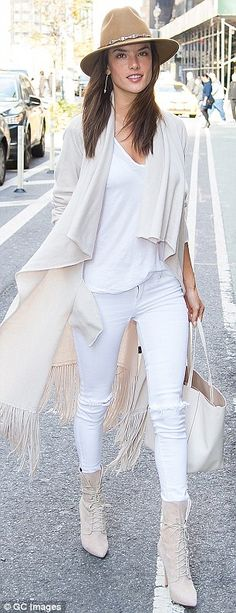 Just heavenly: Alessandra Ambrosio (L) and Behati Prinsloo headed to fittings for the Vict...