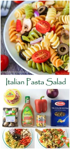 A quick and easy pasta salad made with ingredients you probably already have at home.