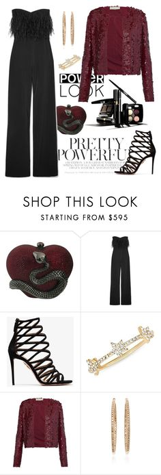 """""""Night"""" by kathyos ❤ liked on Polyvore featuring Judith Leiber, Chanel, Saloni, Aquazzura, EF Collection, Emilio Pucci and Nam Cho"""