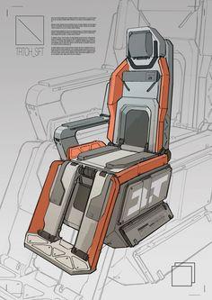 Cockpit Chair 01, Branford Meentzen on ArtStation at https://www.artstation.com/artwork/cockpit-chair-01