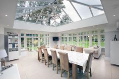 By adding a stunning Orangery to their property the owners have achieved a beautiful large area for entertaining and relaxing
