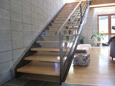 modern stair case built by RWT Design & construction