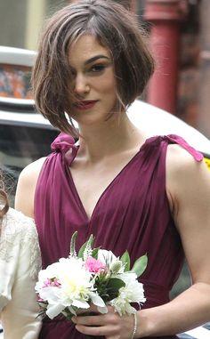 Peinados de celebrity para invitadas a una boda: el bob de Keira Knightley