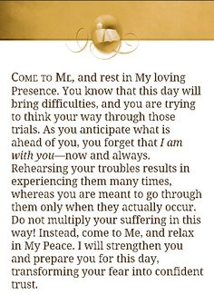 "From ""Jesus Calling"" by Sarah Young"