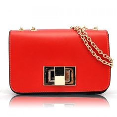 Sweet Candy Color and Chains Design Women's Shoulder Bag