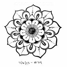 #74 - Sketchbook : 100 Mandalas Challenge Week 12 - KitsKorner.Com