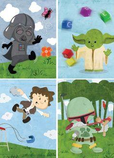 Darling Baby Star Wars Character Prints