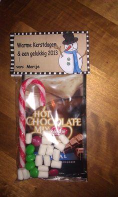 Snowman Soup / Sneeuwpop soep Super leuk om te maken en leuk om weg te geven