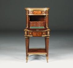 Open-Minded Antique French Amboyna & Floral Marquetry Side Cabinet C.1850 Cabinets & Cupboards Antiques