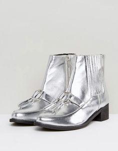 Metallic Tassle Boots - ASOS