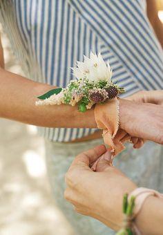 Pretty corsage by Designer Jenni Kayne's Garden Party -- One Kings Lane Corsage Wedding, Wedding Bouquets, Wedding Favors, Purple Bouquets, Wedding Boutonniere, Boutonnieres, Floral Bouquets, Wedding Dresses, Floral Wedding