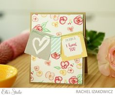 I Heart You card by Rachel Izakowicz for Elle's Studio using the Cienna collection