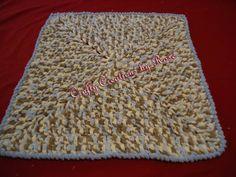Baby blue/brown crochet blanket