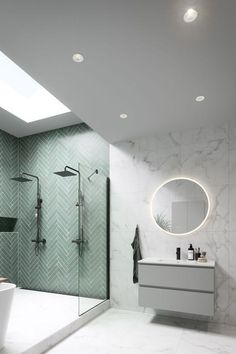 Bathroom Design Small, Bathroom Interior Design, Modern Bathroom, Master Bathroom, Industrial Bathroom, Upstairs Bathrooms, Dream Bathrooms, Beautiful Bathrooms, Bright Bathrooms