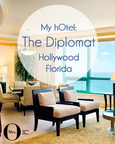 Our room at The Diplomat, Hollywood, Florida was great! It was uber spacious and made up of a large living and dining room (and a bar!), a bedroom, bathroom, walk-in closet, and another room which we used as a working area. All understated and simple, in true Westin style.