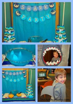 Shark Pool Party Ideas shark party via karas party ideas karaspartyideascom sea shark Sharks Birthday Rowens Jawsome Shark Party See Best Ideas About Shark Party And Shark Cake