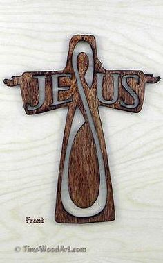 Jesus Outstretched Arms Cross, for Wall Hanging or Ornament, Item J-1