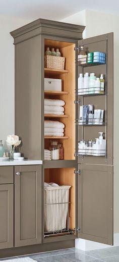 Custom Cabinet #bathroom #storage