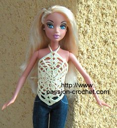 Top au crochet pour poup�e Barbie