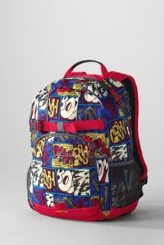 Boys' Comic Strip ClassMate® Small Backpack from Lands' End