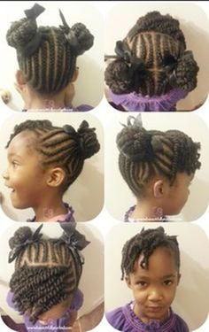 Twisted Hairstyles Flat Twist With Side Bang With Two Strand Twist Hanging In The Back