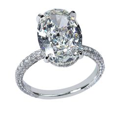 #Platinum and diamond ring by Rahaminov—with a center oval #diamond weighing 4.31ct! Available at TIVOL.