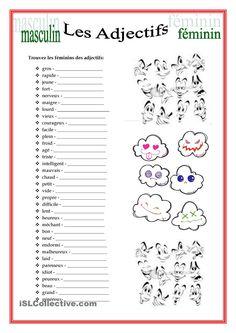 Evaluation - Féminin et masculin - L ecole de crevette   Exercice ce1 à imprimer, Exercice ce1 ...