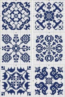 kuvioita, vaikka lapasiin tai palatakkiin #neuleet #kirjoneule Embroidery - square | gancedo.eu