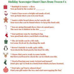 scavenger hunt for Christmas morning