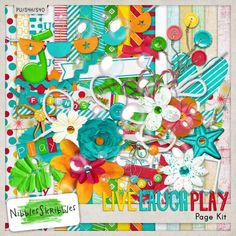 Having fun, that's really what it's all about, right? Live. Laugh. Play! This bright, cheerful and playful collection is all about having fun. Created with vibrant colors and all sorts of playful bits - Live, Laugh, Play is perfect for layouts about anything! Live Laugh and Play Kit 70% off #digitalscrapbooking #memorymaking #MrsMandaK