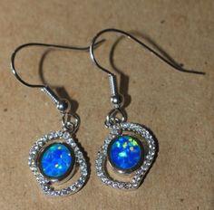 blue-fire-opal-Cz-earrings-gemstone-silver-jewelry-modern-cocktail-drop-dangle-W