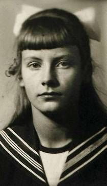 A young Greta Garbo, (Greta Lovisa Gustafsson [gre:ta lʊvi:sa]), was born in Södermalm, Stockholm, Sweden. (September 18, 1905 – April 15, 1990)
