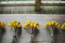 yellow button mum boquets