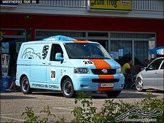 "VW T5 Gulf Colours - ""Porsche Crew"" by retromotoring, via Flickr"