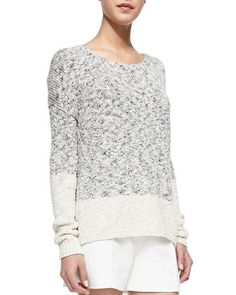 Marbled Blocked Knit Sweater by Vince at Neiman Marcus.
