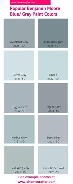 Popular Benjamin Moore Blue/Gray Paint Colors - A Home Crafter