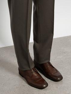Square-toe leather derby shoes | Bottega Veneta | MATCHESFASHION.COM