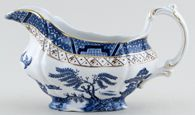 Booths Real Old Willow Sauce Boat c1950s