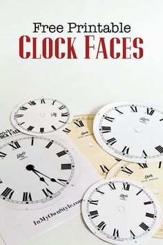 Free Printable clock faces.