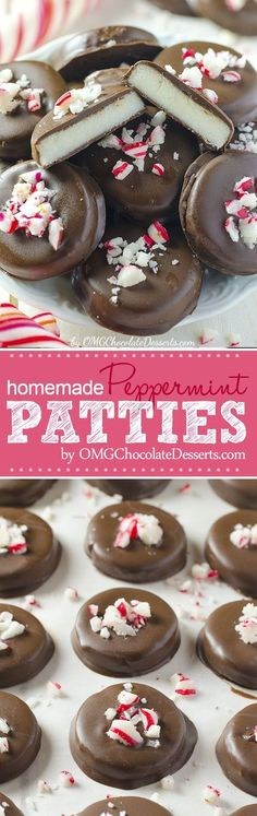 HOLIDAY BOARD: Homemade Peppermint Patties - Chocolate Dessert Re...