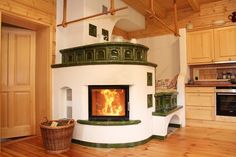 Stair Shelves, Earthship Home, Stove Heater, Small Log Cabin, Japanese Interior Design, Wooden House, Cool Kitchens, Building A House, New Homes