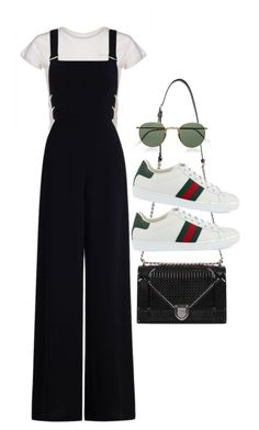 """Sin título #3024"" by camilae97 ❤ liked on Polyvore featuring Zimmermann, Ray-Ban and Gucci"