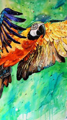 Macaw, parrot, art, 720x1280 wallpaper