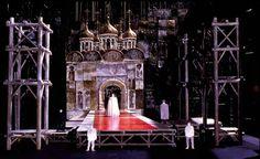 Stage Designs by Ming Cho Lee: Scale model for Boris Godunov (Coronation) 1974, Metropolitan Opera, New York, NY