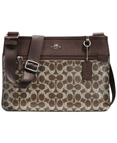 COACH SPENCER CROSSBODY IN SIGNATURE COATED CANVAS - COACH - Handbags  amp   Accessories - Macy s c388a7c362