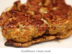 V-BONE DE COLIFLOR-CAULIFLOWER V-BONE  filete de coliflor al BBQ x 2  precio : 10.000 pesos