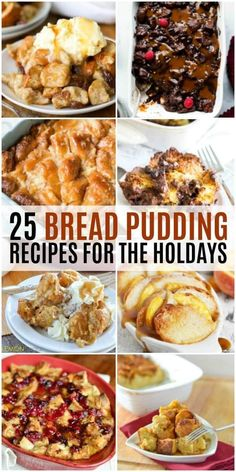 Take a holiday dessert to a whole new level with these 25 Bread Pudding Recipes!… Take a holiday dessert to a whole new level with these 25 Bread Pudding Recipes! Each recipe is baked with love and is great for feeding a crowd! Holiday Bread, Christmas Bread, Christmas Pudding, Holiday Baking, Christmas Cooking, Desserts For A Crowd, Köstliche Desserts, Delicious Desserts, Dessert Recipes
