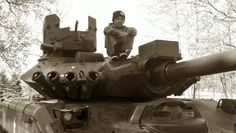 Visiting the tanks at Cantigny Park (in Wheaton)