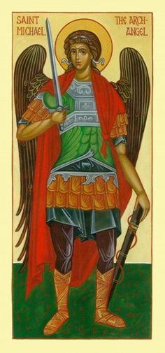 St. Michael the Archangel (14 x 20 cm) by Fr. Vladimir